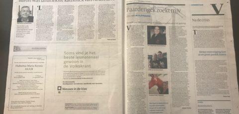 Interview met de Volkskrant over Paard & Partner